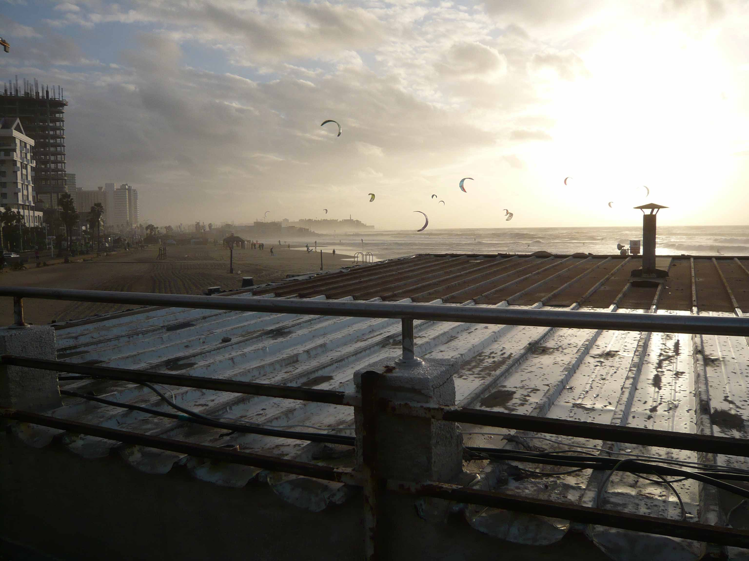 Mediterranean Sunset over Rooftop