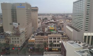 View of the French Quarter from the 14th floor
